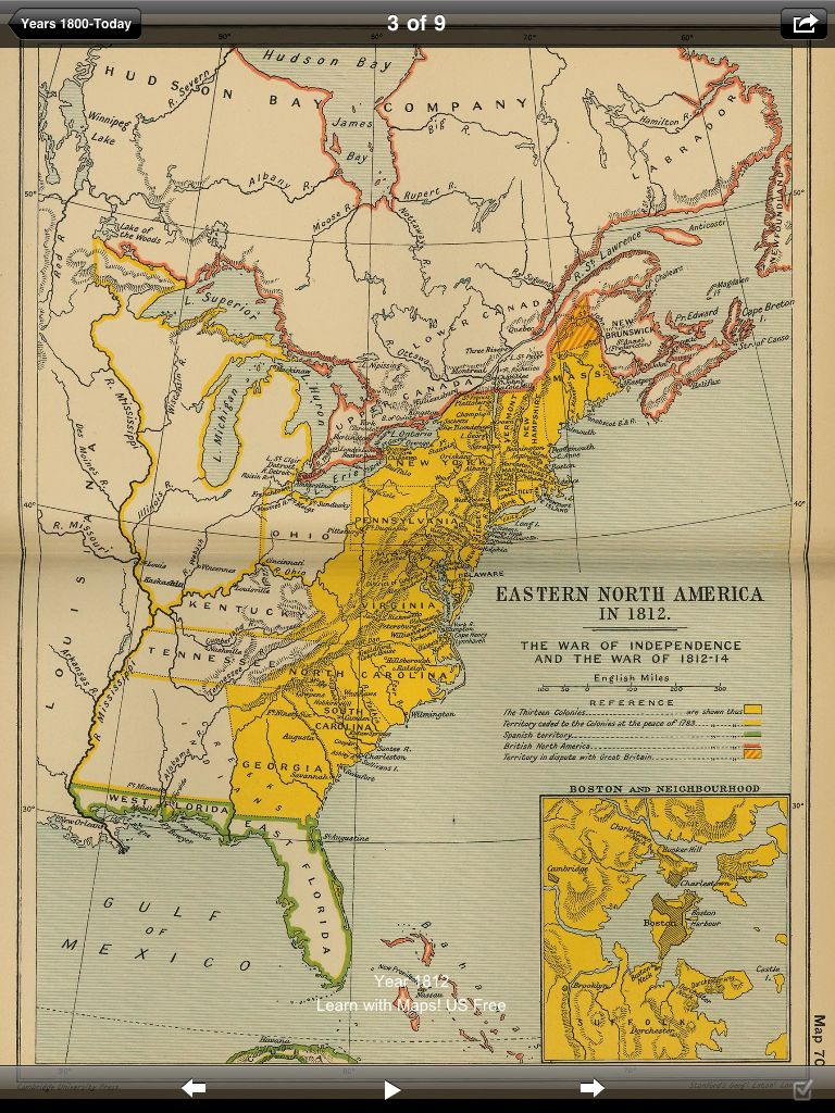 United States Free Maps Wearearamiscom - Map of us in 1812